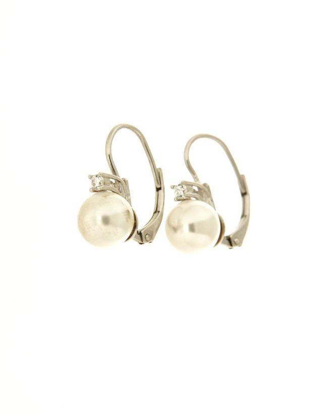 Earring in silver tit. 925m.