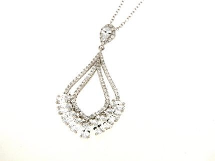 Necklace in silver tit. 925m. - K102R